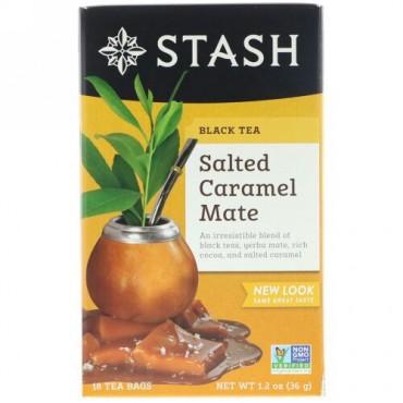 Stash Tea, Black Tea, Salted Caramel Mate, 18 Tea Bags, 1.2 oz (36 g) (Discontinued Item)