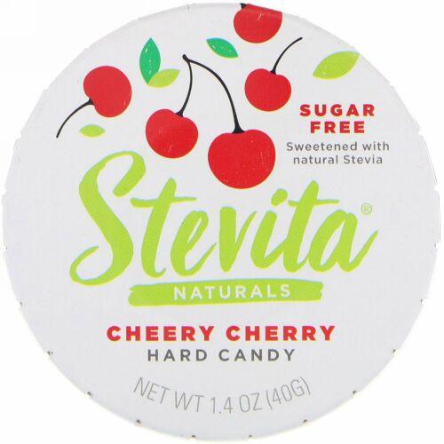 Stevita, ナチュラルズ、無糖ハードキャンディー、チアリーチェリー、1.4オンス (40 g)