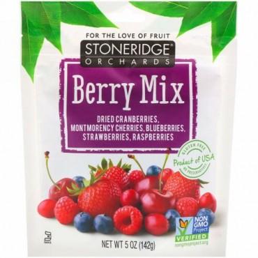 Stoneridge Orchards, ベリーミックス、ホールドライミックスベリー、142 g(5 oz)