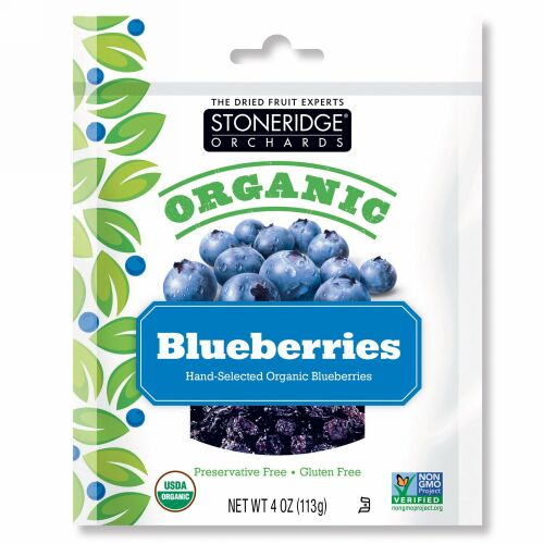 Stoneridge Orchards, オーガニックブルーベリー、113 g(4 oz)