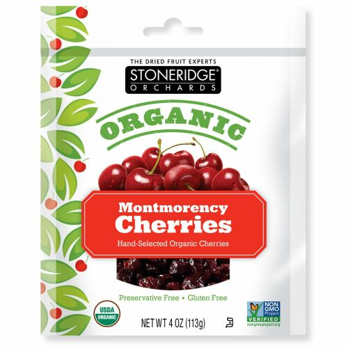 Stoneridge Orchards, オーガニックモンモランシーチェリー、 4 oz (113 g)