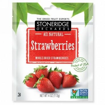 Stoneridge Orchards, ストロベリー、 ホールドライ ストロベリー、 4 oz (113 g)