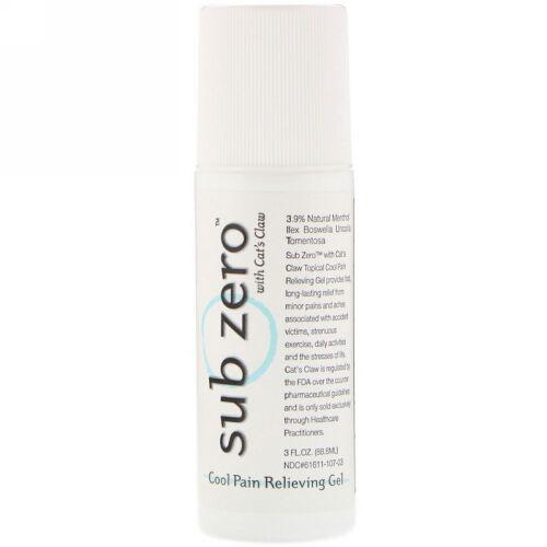 Sub Zero, クールペインリリーフジェルロールオン、3液量オンス (88.8 ml) (Discontinued Item)
