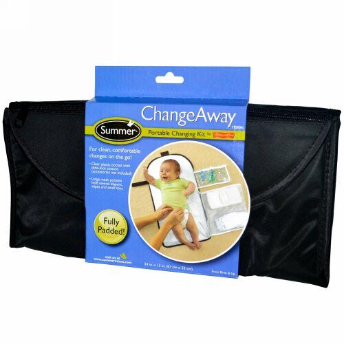Summer Infant, ChangeAway(チェンジアウェイ)、ポータブルおむつ替えキット、新生児から、24 インチ x 13 インチ (61 cm x 33 cm) (Discontinued Item)