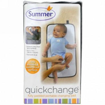 Summer Infant, クイックチェンジ, 全面パッド入り携帯用おむつ替えマット, 1ピース (Discontinued Item)