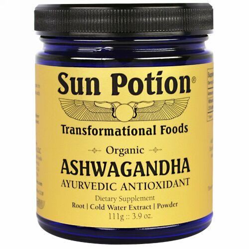 Sun Potion, Ashwagandha Powder, Organic, 3.9 oz (111 g) (Discontinued Item)