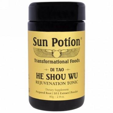 Sun Potion, ツルドクダミ・パウダー、野生を摘んだもの、2.8オンス(80グラム) (Discontinued Item)