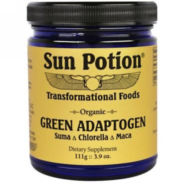 Sun Potion, オーガニック・グリーン・アダプトゲン、クロレラ・マカ・スーマ・ブレンド、3.9オンス(111 g) (Discontinued Item)