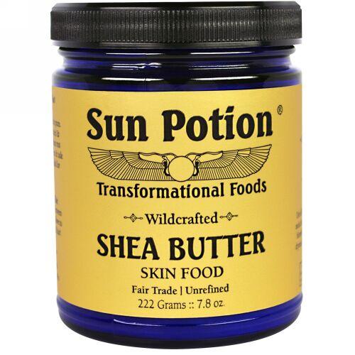Sun Potion, ガーナ産・野生を摘んだシアバター、7.82オンス(222g) (Discontinued Item)