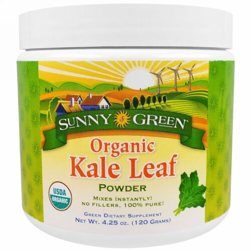 Sunny Green, オーガニックケールリーフパウダー, 4.25オンス (120 g) (Discontinued Item)
