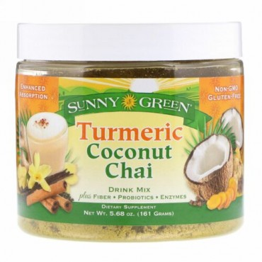 Sunny Green, Turmeric Coconut Chai Drink Mix, 5.68 oz (161 g) (Discontinued Item)