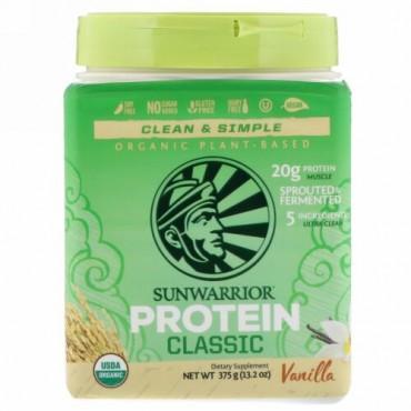 Sunwarrior, Classic Protein, Organic Plant-Based, Vanilla, 13.2 oz (375 g) (Discontinued Item)