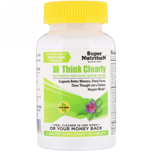 Super Nutrition, Think Clearly, 90 Tablets (Discontinued Item)