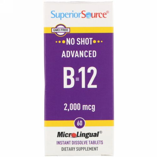 Superior Source, Advanced B-12, 2,000 mcg, 60 Tablets
