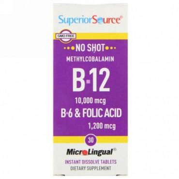 Superior Source, B-12, B-6 & Folic Acid, 30 MicroLingual Instant Dissolve Tablets (Discontinued Item)
