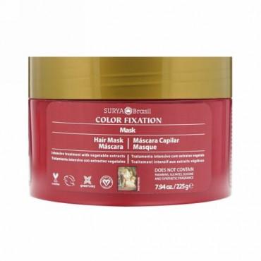 Surya Brasil, カラー・フィクセーション - 回復用ヘアマスク, 7.6 液量オンス(225 g)