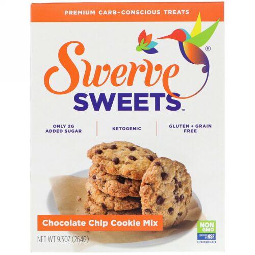 Swerve, スイーツ、チョコレートチップクッキーミックス、9.3 oz (264 g) (Discontinued Item)