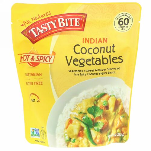 Tasty Bite, Indian, Coconut Vegetables, Hot and Spicy, 10 oz (285 g) (Discontinued Item)