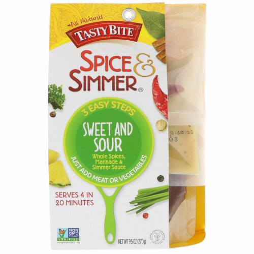 Tasty Bite, Spice & Simmer, Sweet and Sour, 9.5 oz (270 g) (Discontinued Item)