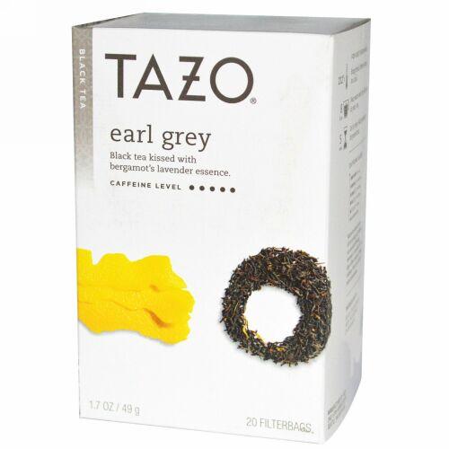 Tazo Teas, アールグレー, ブラックティー, 20 フィルターバッグ, 1.7 oz (49 g) (Discontinued Item)