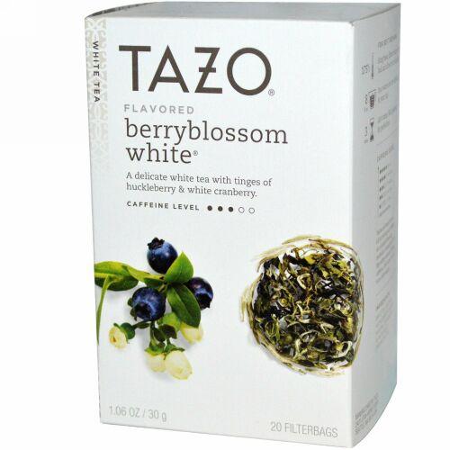 Tazo Teas, ベリーブラッサム風味ホワイトティー, 20フィルターバック, 1.06 oz (30 g) (Discontinued Item)