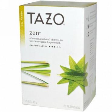 Tazo Teas, 禅、グリーンティー、 フィルターバッグ20個、 1.5 オンス (43 g) (Discontinued Item)