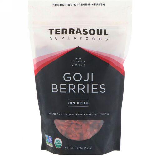 Terrasoul Superfoods, ゴジベリー、日干し、16 oz (454 g) (Discontinued Item)