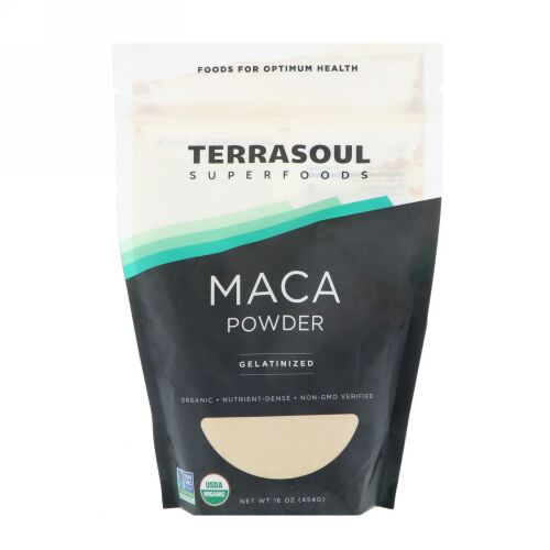 Terrasoul Superfoods, マカパウダー、ゼラチン化、16 oz (454 g) (Discontinued Item)