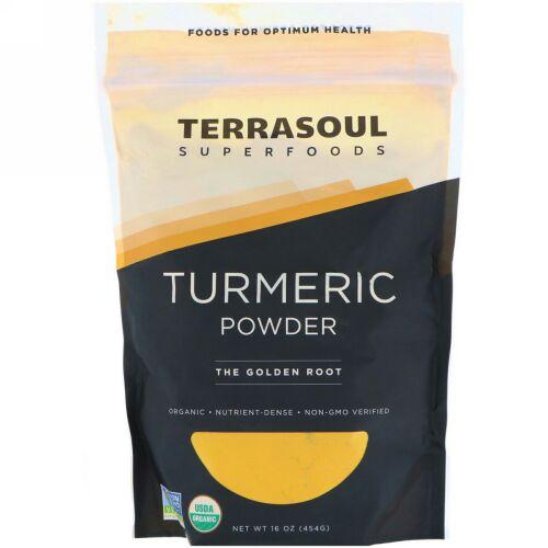 Terrasoul Superfoods, ウコンパウダー(Turmeric Powder)、16オンス (454 g) (Discontinued Item)
