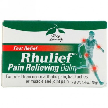 Terry Naturally, Rhulief、痛み緩和バーム、1.4オンス (40 g) (Discontinued Item)