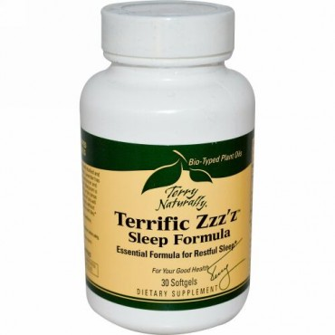 Terry Naturally, Terry Naturally, Terrific Zzz'z, Sleep Formula, 30 Softgels (Discontinued Item)