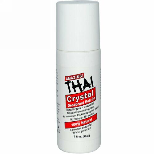 Thai Deodorant Stone, 防臭剤ロールオン、3 fl oz (90 ml) (Discontinued Item)