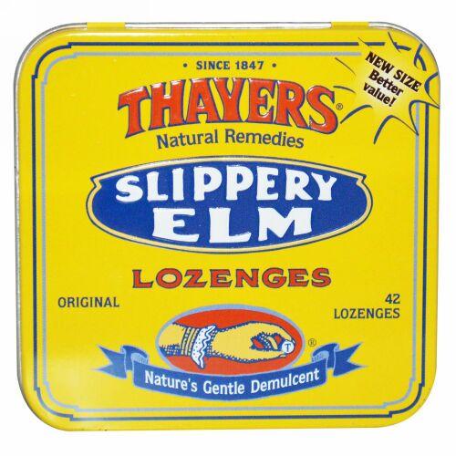 Thayers, スリッパリーエルム トローチ剤, 42トローチ (Discontinued Item)