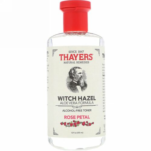 Thayers, ウィッチヘーゼル(マンサク)アロエベラフォーミュラ, アルコールフリートナー, 12液量オンス(355 ml) (Discontinued Item)