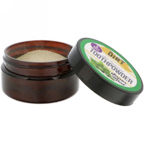 The Dirt, オールナチュラル歯磨き粉、スーパーミント、.88 oz (25 g) (Discontinued Item)