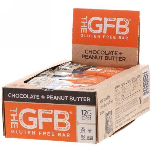 The GFB, Gluten Free Bar, Chocolate Peanut Butter, 2.05 oz (58 g) (Discontinued Item)