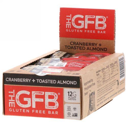 The GFB, グルテンフリーバー、クランベリー+トーストアーモンド、12本、各58g (Discontinued Item)
