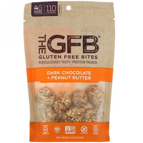 The GFB, グルテンフリーバイツ、ダークチョコレートピーナッツバター、113g(4oz) (Discontinued Item)