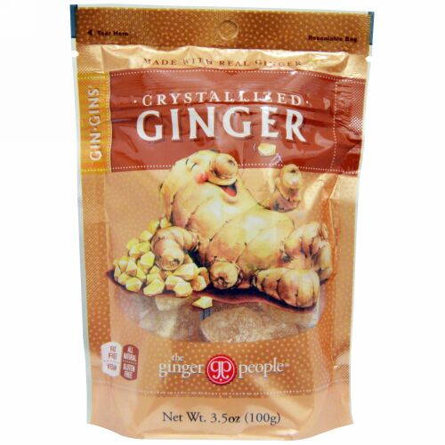 The Ginger People, Gin·Gins、結晶化ショウガ、3.5 oz (100 g)