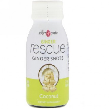 The Ginger People, Ginger Rescue Shots, Coconut, 2 fl oz (60 ml) (Discontinued Item)