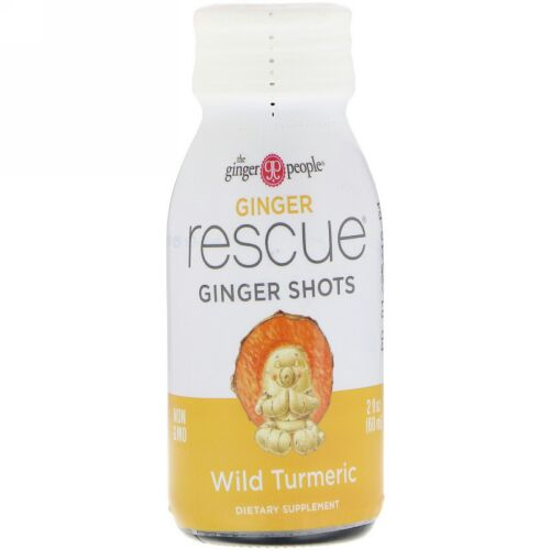 The Ginger People, Ginger Rescue Shots, Wild Turmeric, 2 fl oz (60 ml) (Discontinued Item)