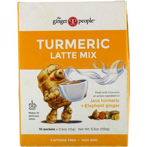 The Ginger People, Turmeric Latte Mix, 10 packets, 05 oz (15 g) Each (Discontinued Item)