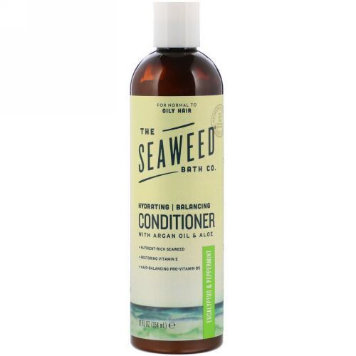 The Seaweed Bath Co., Hydrating Balancing Conditioner. Eucalyptus & Peppermint, 12 fl oz (354 ml)