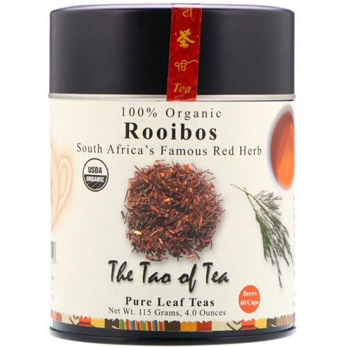 The Tao of Tea, 100%オーガニックルイボス、南アフリカの有名な赤いハーブ、4.0 oz (115 g) (Discontinued Item)