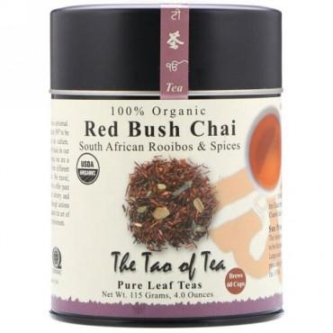 The Tao of Tea, 100%オーガニック南アフリカ産ルイボス&スパイス、レッドブッシュチャイ、4オンス(115 g) (Discontinued Item)