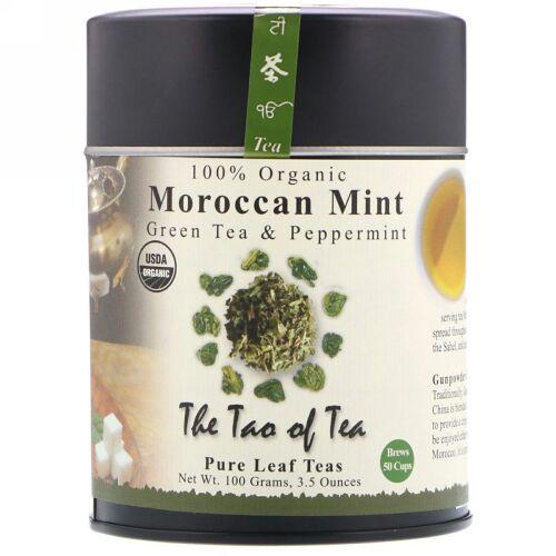 The Tao of Tea, 100% オーガニック・グリーンティ、モロッカン・ミント3.5 オンス(100 g) (Discontinued Item)