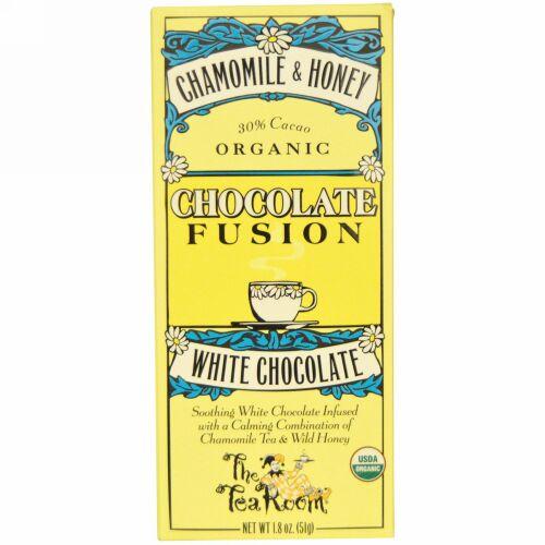 The Tea Room, チョコレート フュージョン、ホワイトチョコレート、カモミール & ハニー、1.8 オンス (51 g) (Discontinued Item)