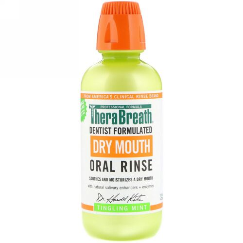 TheraBreath, Dry Mouth Oral Rinse、Tingling Mint、16 fl oz (473 ml)