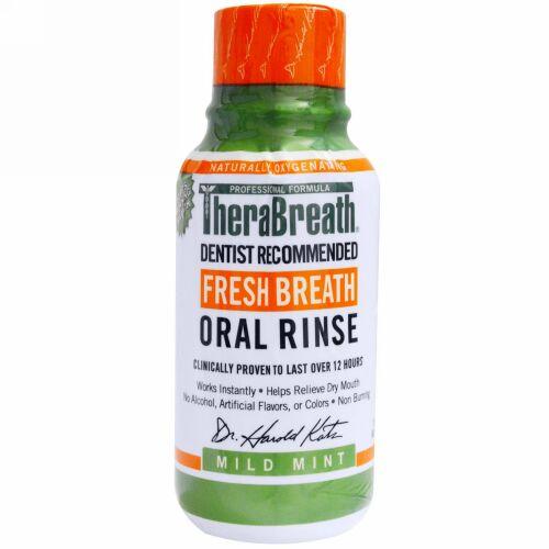 TheraBreath, フレッシュブレスウォッシュリンス、マイルドミントフレーバー、3 fl oz (88.7 ml)