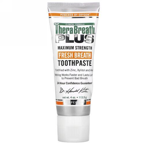 TheraBreath, フレッシュブレス、歯磨きチューブ (113.5 g)